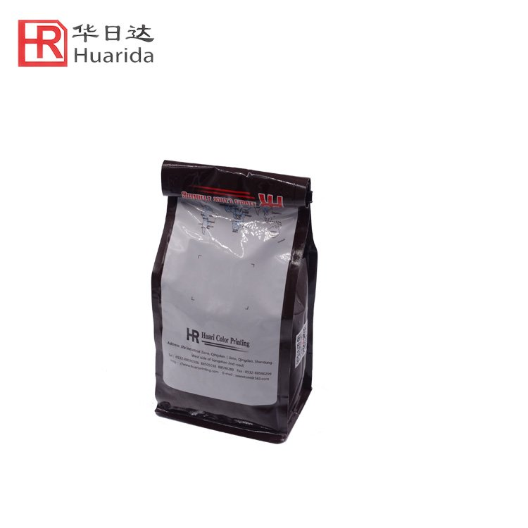 Square Bottom Zip Lock Plastic Bag Coffee Bag