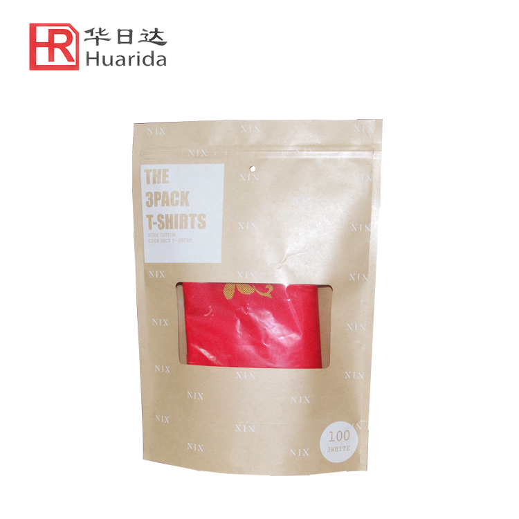 Zip Lock Plastic Bag Garment Kraft Paper Bag